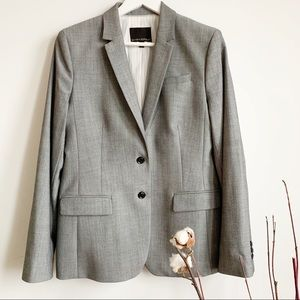 Banana Republic Wool Stretch Blend Gray Blazer 12